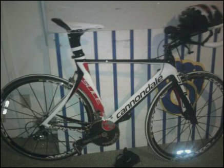 This is Scarlet. She is a 2011 Cannondale Slice.