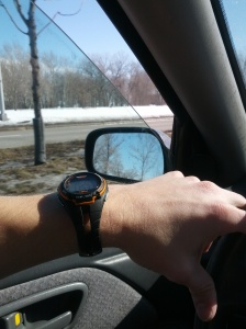 Driving with the window down in Feb!