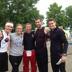 Friends before the race