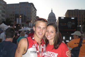 Allison and I at IRONMAN Wisconsin 2009