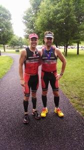 Coach Joe and I after the race