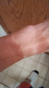 Garmin tanline from 5+ hour ride