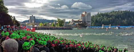 Ironman Coeur d'Alene Swim Start 2014