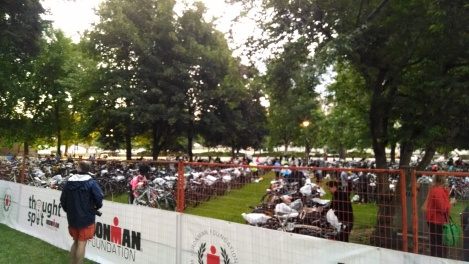 Ironman Coeur d'Alene transition area
