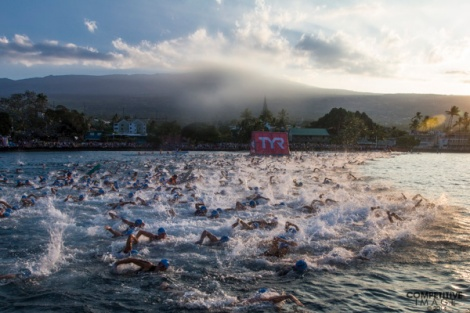2014 Ironman World Championship - Age Group Swim Start - Eric Engel