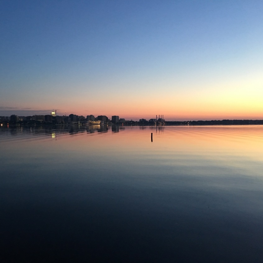 Pre-race Sunrise on Lake Monona in Madison